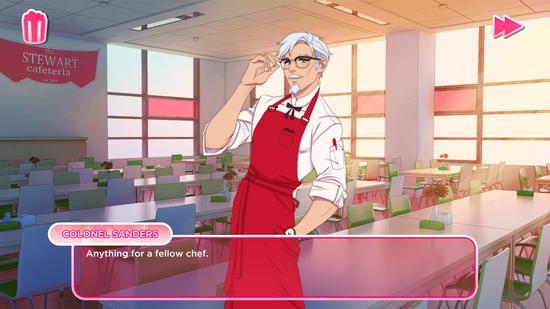 和肯德基上校谈恋爱 KFC推出吮指味恋爱模拟器
