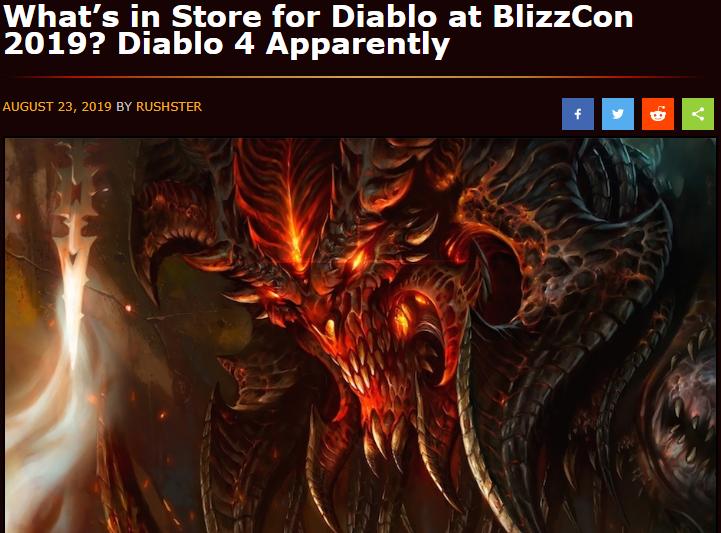 据外媒爆料 今年暴雪嘉年华将公布《暗黑破坏神4》
