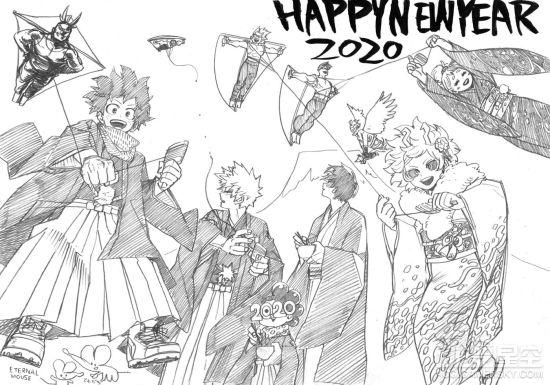 2020年动漫新年贺图赏 JUMP全明星祝大家元气满满