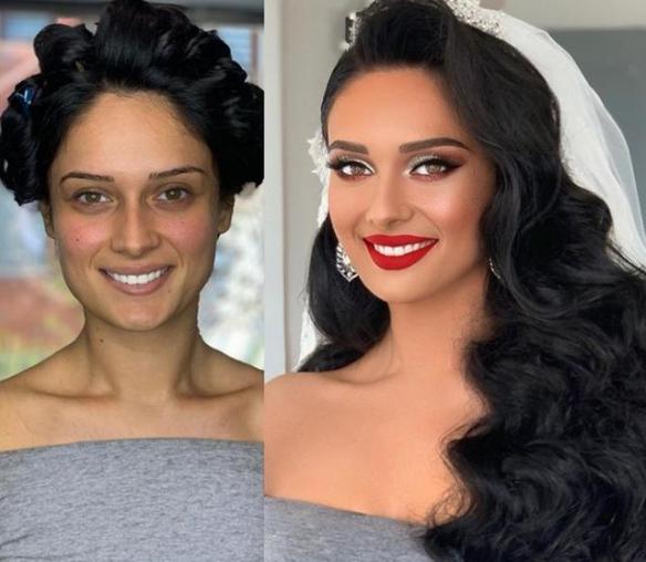 24張對比照片 讓你驚嘆新娘化妝前后差別多么巨大!